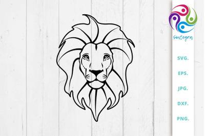 Cute Lion Svg File