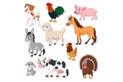 Set of Ten Farm Animal Collection