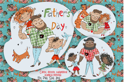 Father's Day Digital Clipart Svg Png Sublimation and Stickers
