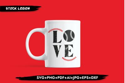 Love Baseball PNG