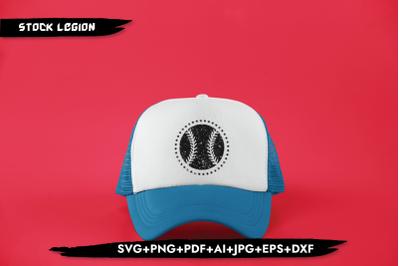 Black Baseball SVG