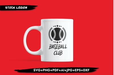 Baseball Club SVG