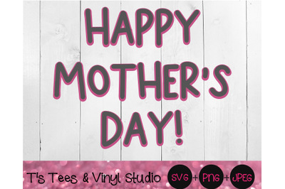 Mom Svg, Mother's Day, Happy Mother's Day, Layered Knockout, Momma, Ma