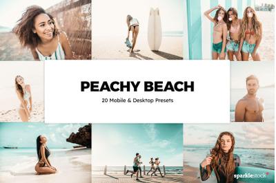 20  Peachy Beach LR Presets
