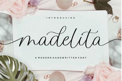 madelita Modern Handwritten Font