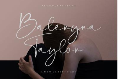 Baleryna taylor script font ,signature font ,Handwritten