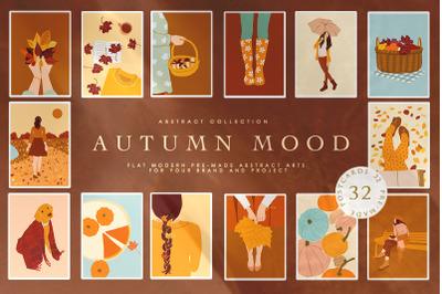 Abstract Autumn Mood Illustrations