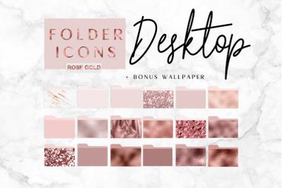 Rose gold Icons Desktop Folder