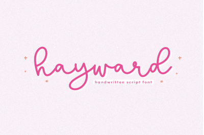 Hayward - Handwritten Script Font