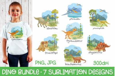 Dino Bundle - 7 Sublimation Designs