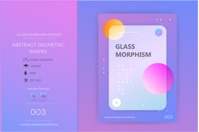 Glassmorphism abstract poster #003.