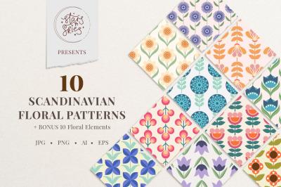 Scandinavian Floral Patterns