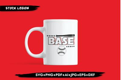 Base Ball Bat Stars SVG