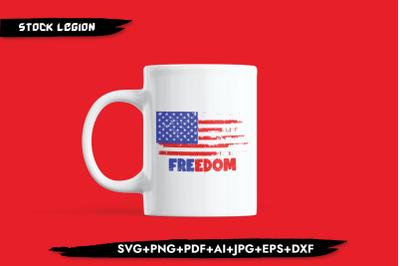 Freedom USA Flag SVG