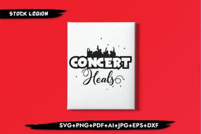 Concert Heals SVG