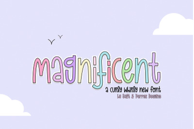 Magnificent Font Duo (Procreate Fonts, Canva Fonts, Skinny Fonts)