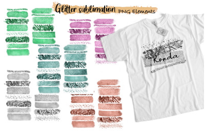 Glitter Brush Strokes Sublimation - Brush Strokes PNG