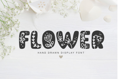 Flower Hand Drawn display Font