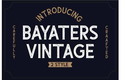 Bayaters - Vintage Font