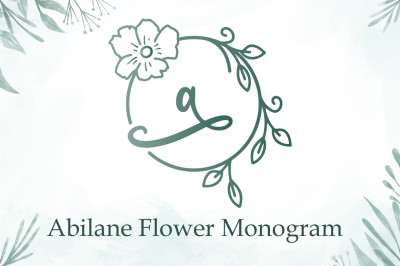 Abilane Flower Monogram