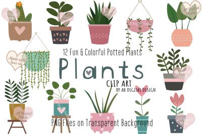 House Plants, Potted Plants Clipart, Succulents, Flowers