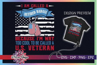 I'm way too cool to be called US Veteran