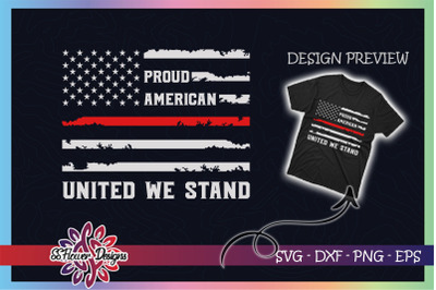United we stand USA Distressed Flag