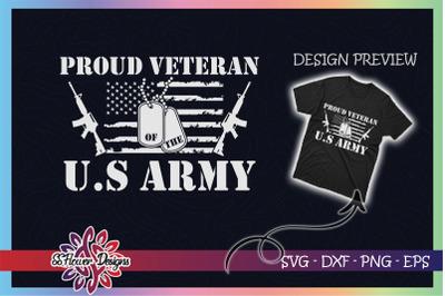 Proud veteran of the U.S Army USA Flag