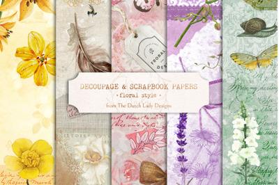 Digital Decoupage & Scrapbook Sheet Set 3