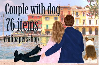 Couples clipart,People clipart. Couple Portraits,mug design