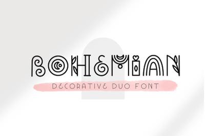 Bohemian - Decorative font duo