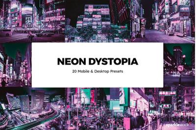 20  Neon Dystopia LR Presets