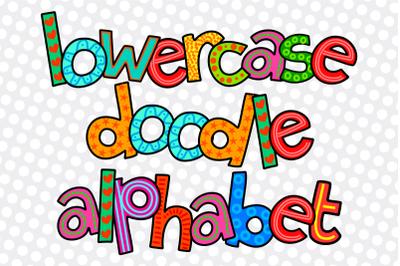 Hand Drawn Alphabet Doodle Letters