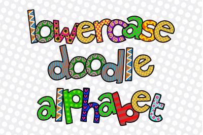 Hand Drawn Alphabet Doodle Letters Set 2