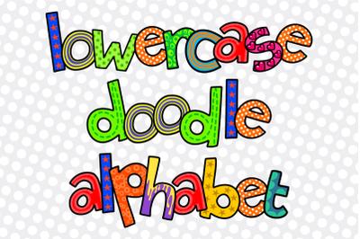Hand Drawn Alphabet Doodle Letters Set 3