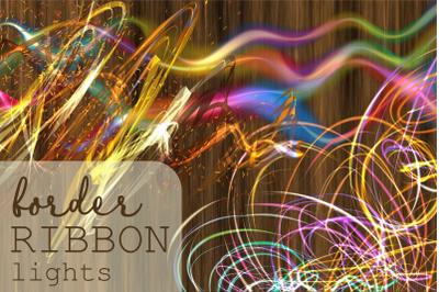 Border Ribbon Lights Decorative Elements