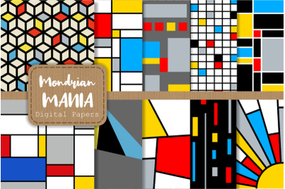 Mondrian Mania Retro Geometric Papers