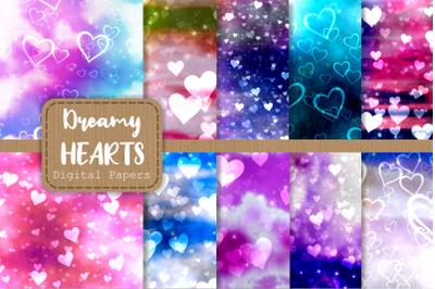 Dreamy Love Heart Shape Pattern Papers