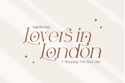 Lovers in London (Serif Fonts, Wedding Fonts, Beautiful Fonts)