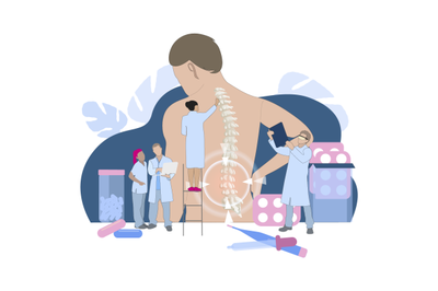 Chiropractor and osteopathy, health back, manual therapy