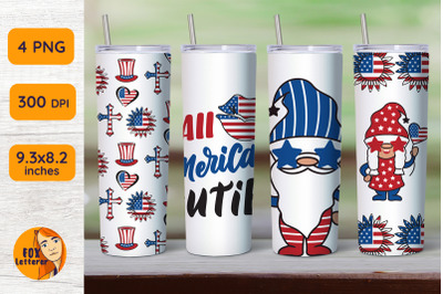 Independence gnomes. Tumbler designs