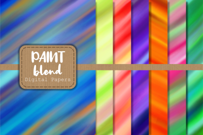 Smooth Blended Chalky Paint Papers