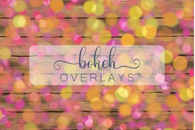Decorative Bokeh Overlay Backgrounds