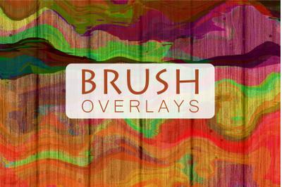 Acrylic Painted Brush Stroke Overlays