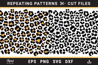 Leopard print SVG, DXF, PNG. Cheetah print cut files