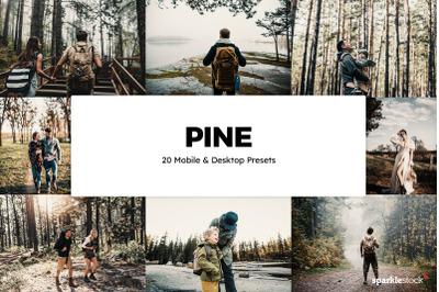 20 Pine Lightroom Presets & LUTs