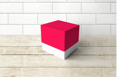 Cube Box with LId | SVG | PNG | DXF | EPS