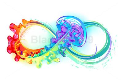 Infinity with Rainbow Jellyfish