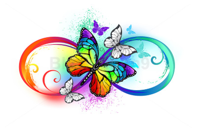 Bright Infinity with Rainbow Butterfly