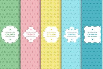 Color minimalistic design prints